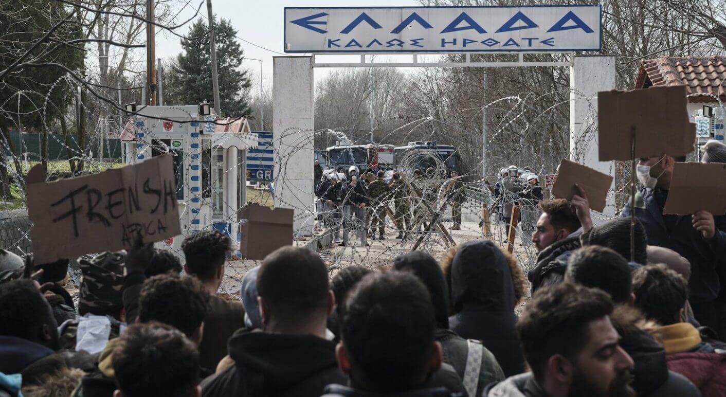 Grenzübergang Pazarkule Griechenland