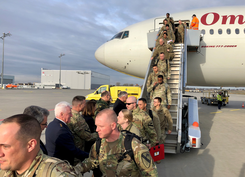 US-Soldaten kommen zum Manöver DefenderEurope