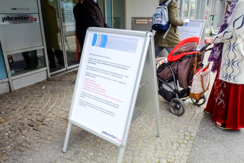 Coronavirus - Jobcenter in Berlin geschlossen