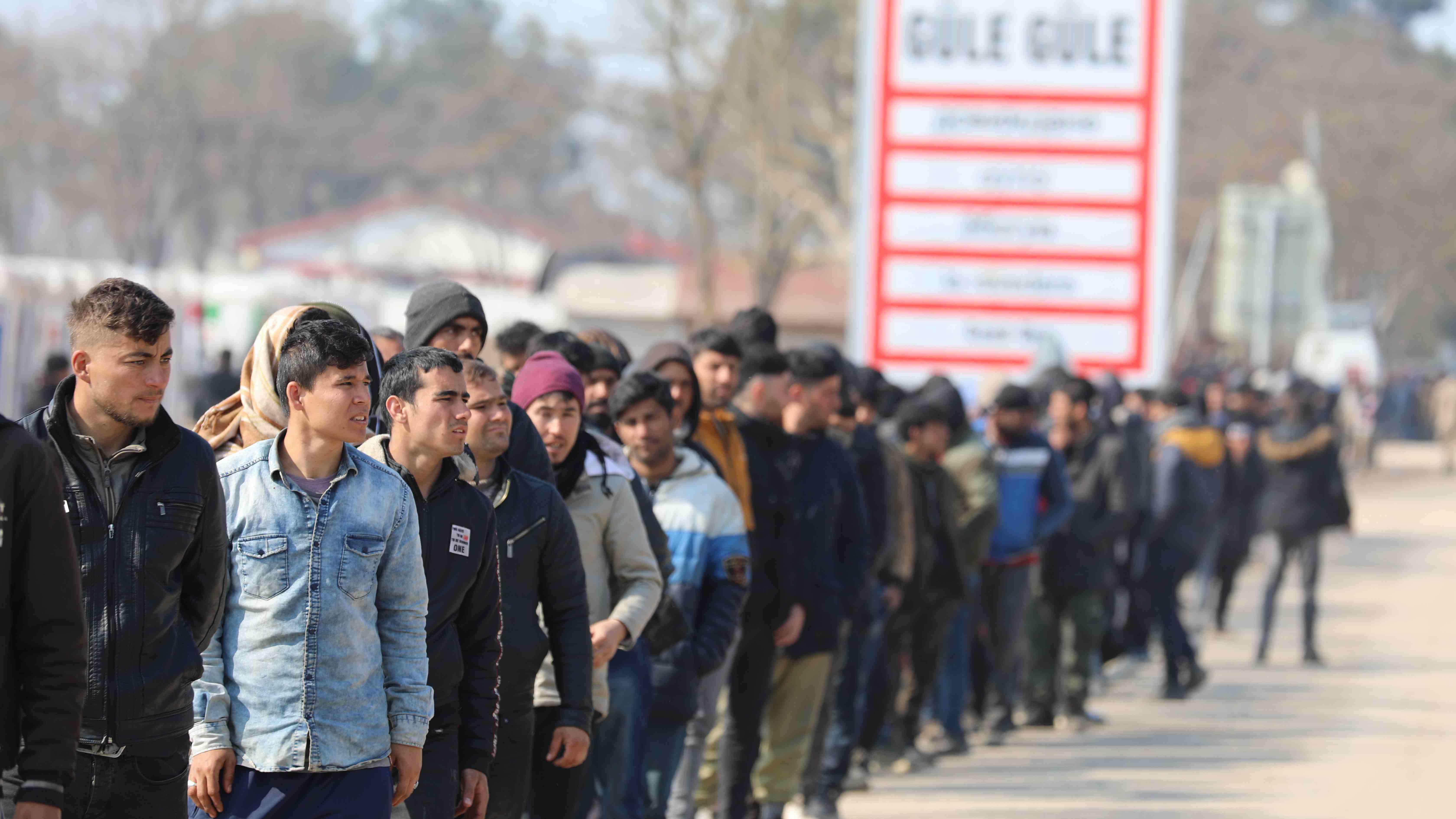 Asylsuchende Grenze Türkei
