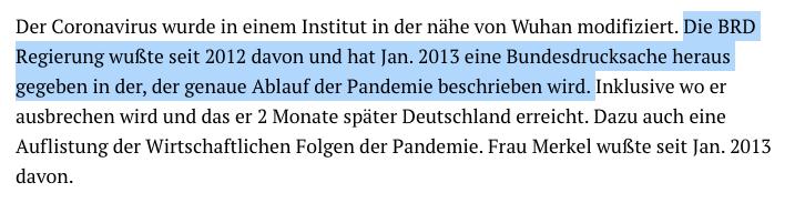 Nein, Angela Merkel wusste nicht schon 2013 von der aktuellen Coronavirus-Pandemie