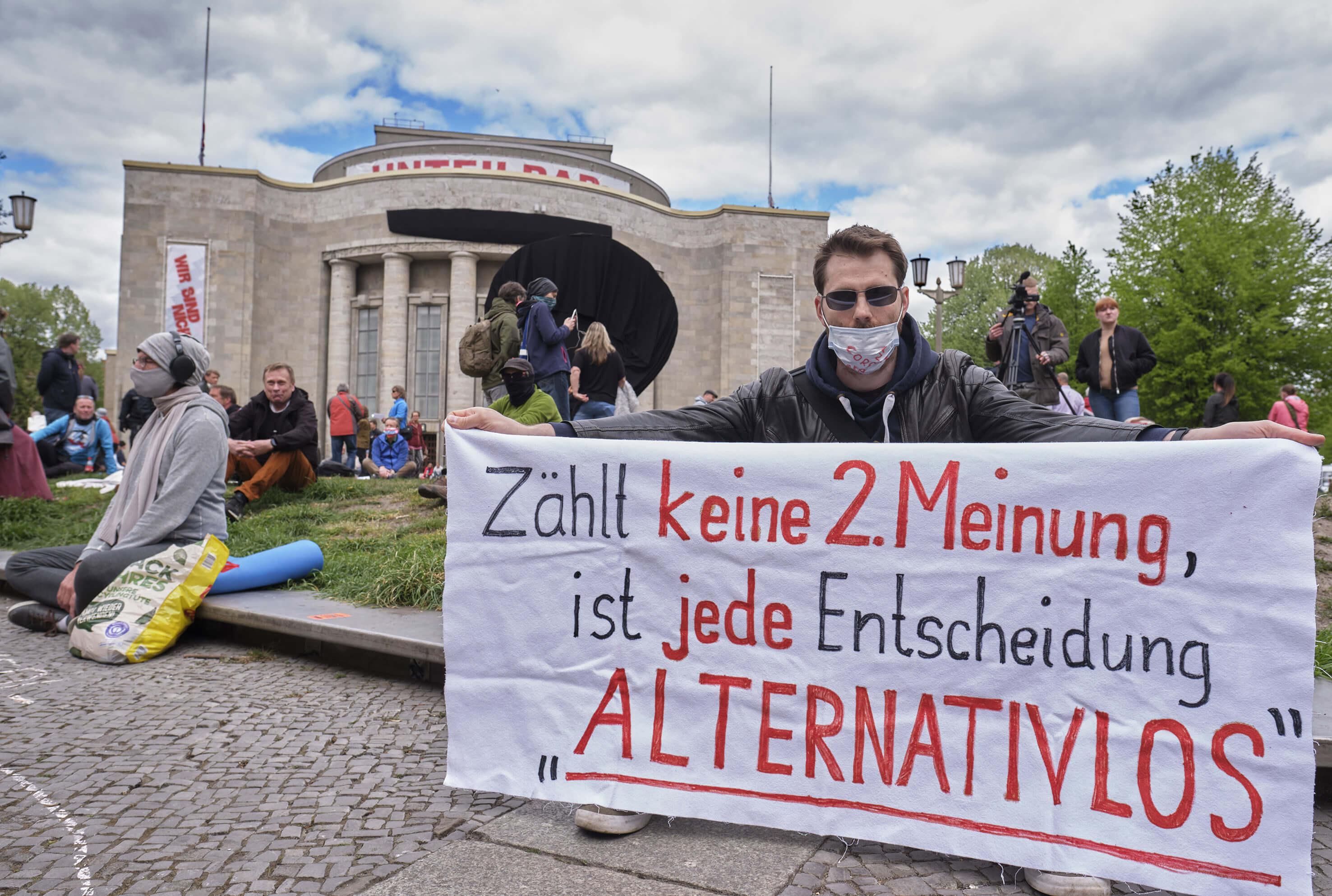 Anti-Corona-Demo in Berlin, 2020
