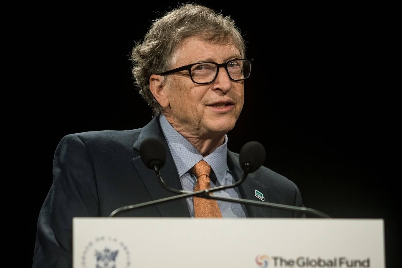 Bill Gates hält eine Rede