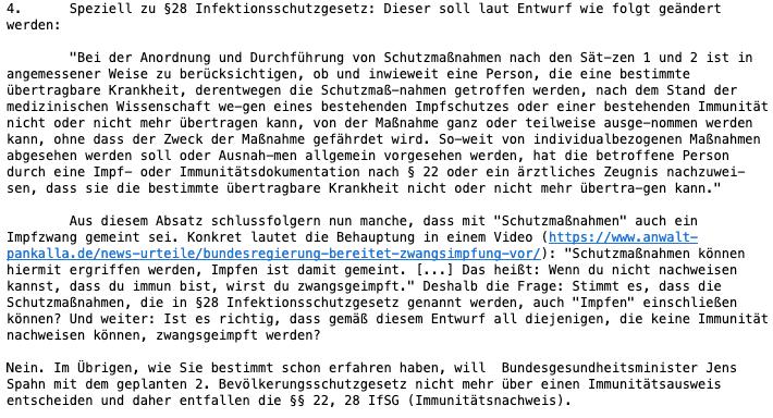 E-Mail des Bundesgesundheitsministeriums