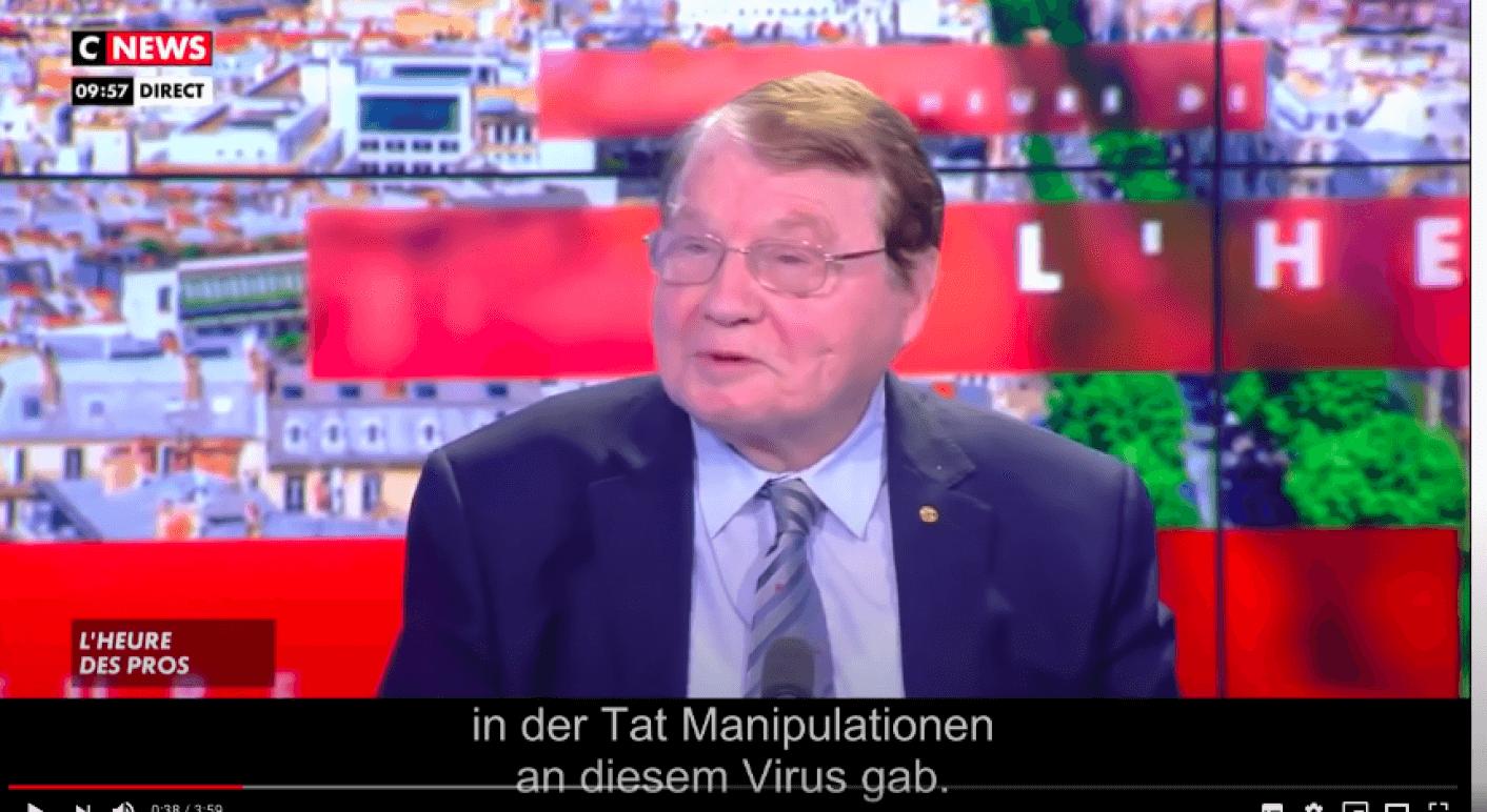 Luc Montagnier im Interview mit dem französischen Sender CNews.
