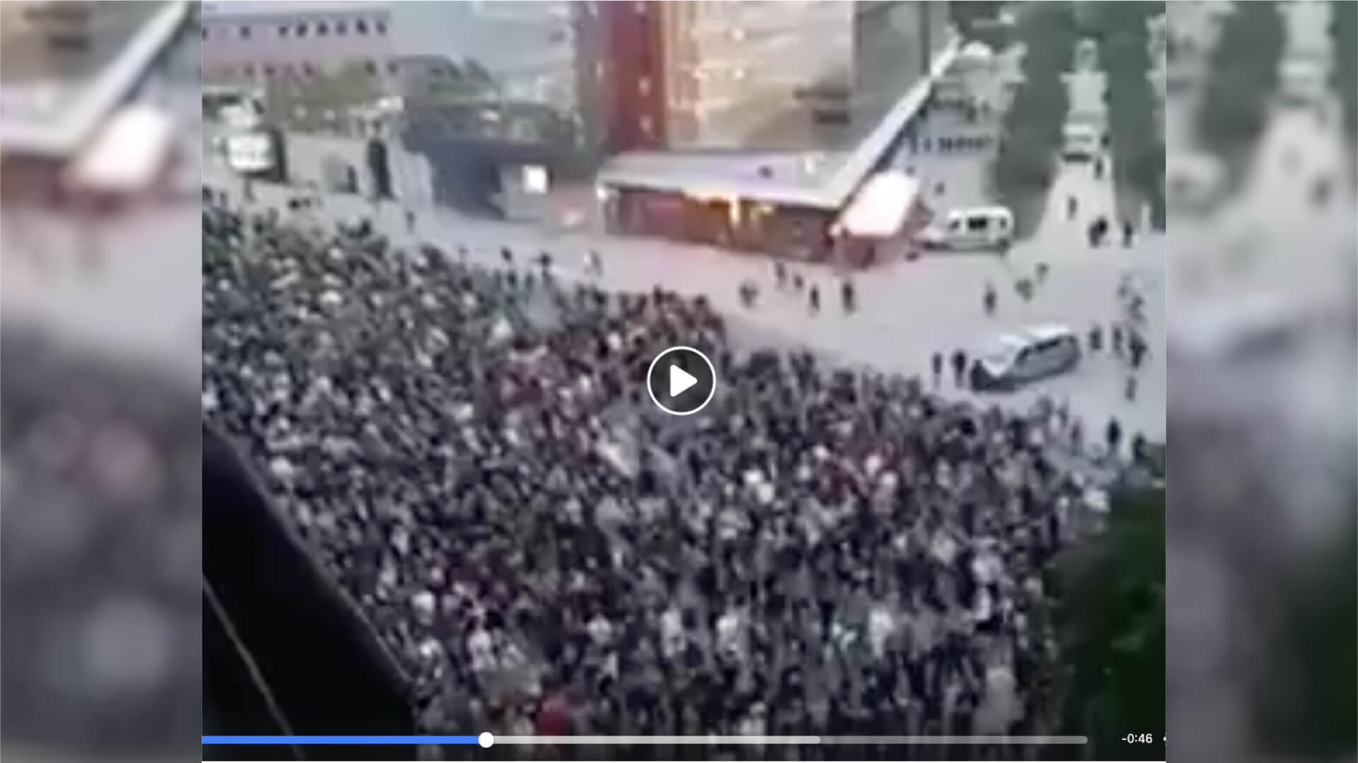 Video einer Demo in Chemnitz