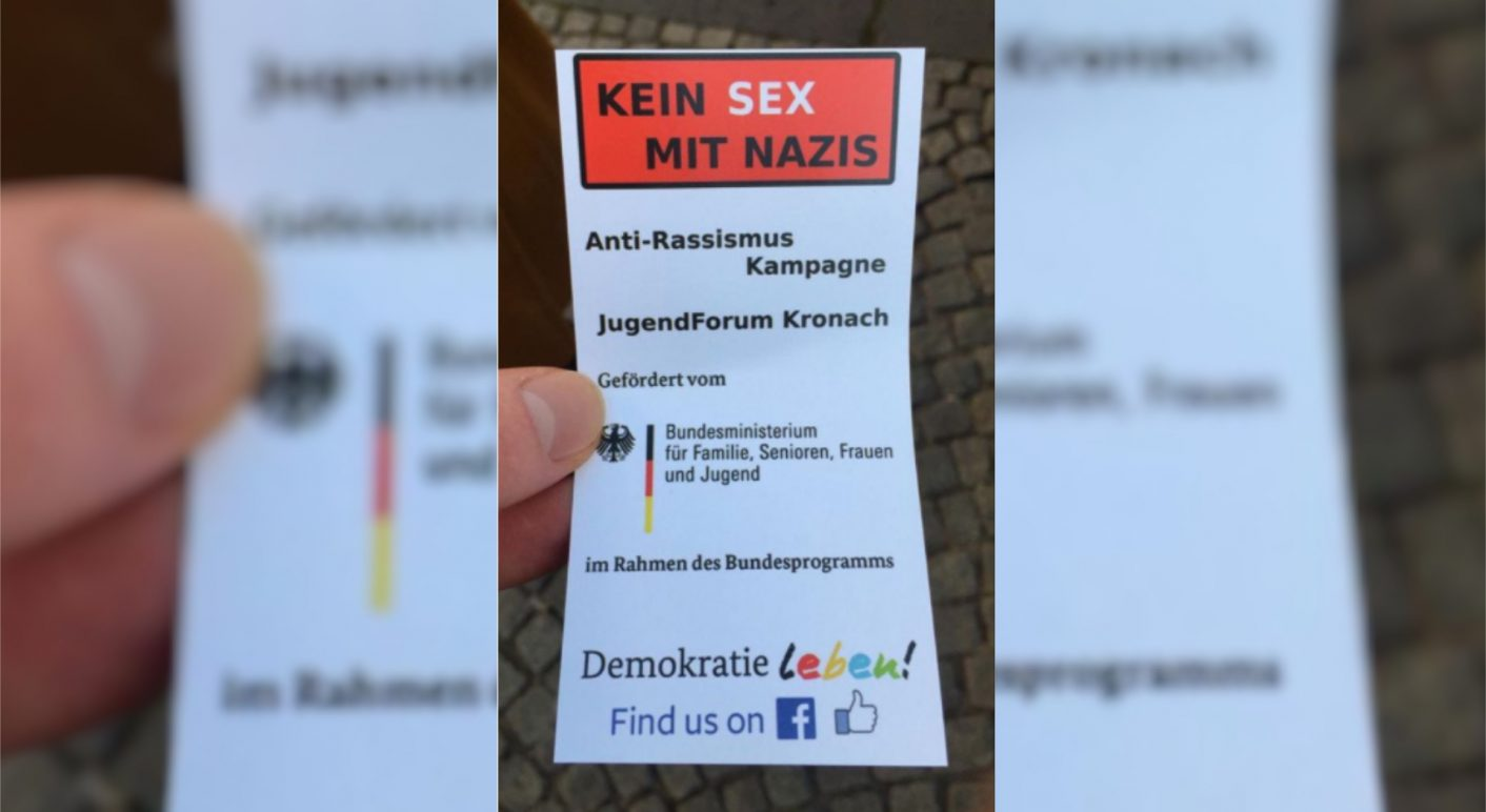 sex mit nazis flyer collage