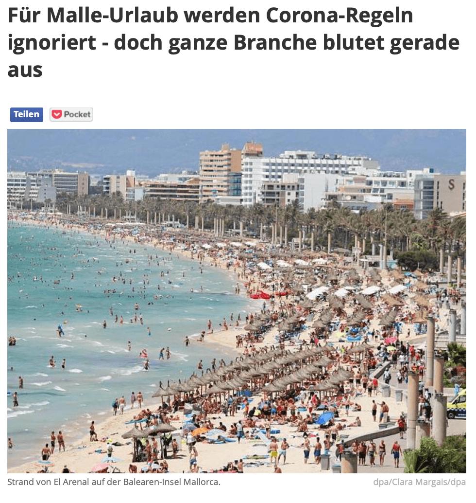 focus online nutzt altes foto von strand auf mallorca