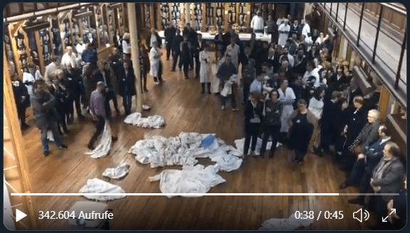 """Dieses Video zeigt französische Ärzte, aber sie protestieren nicht gegen den """"Corona-Schwindel"""""""