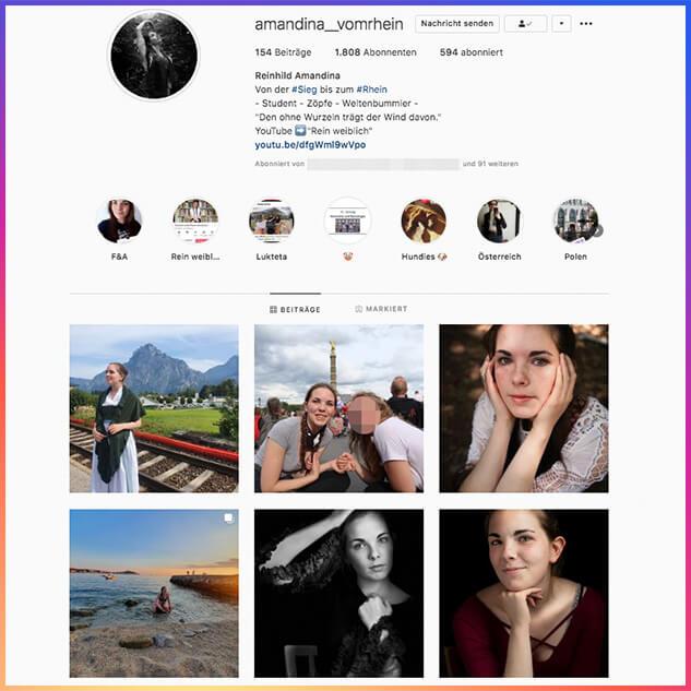 Das öffentliche Instagram-Profil von Reinhild Boßdorf.