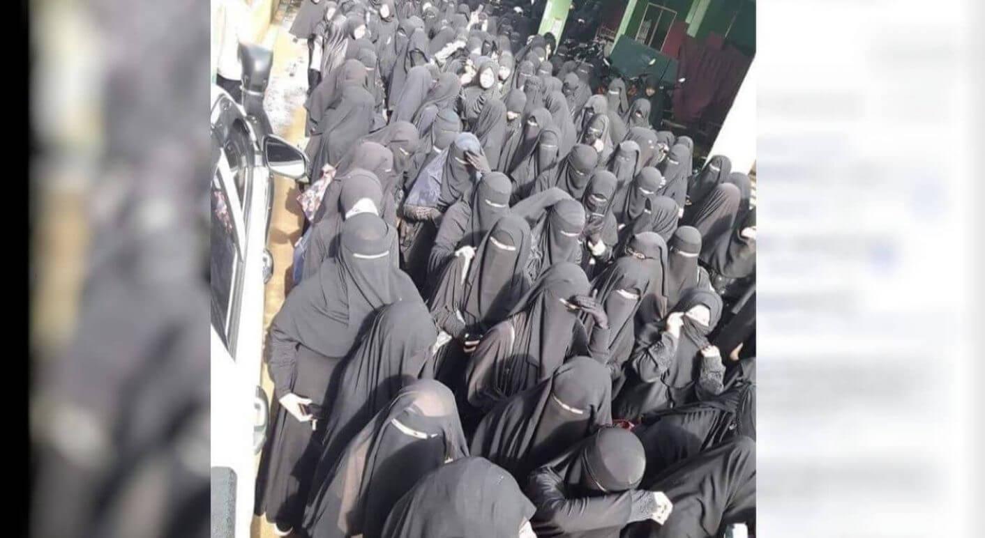 Frauen im Nikab
