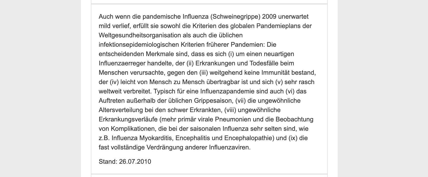 Das Robert-Koch-Institut klärt auf seiner Internetseite über die Schweinegrippe-Pandemie im Jahr 2009 auf.