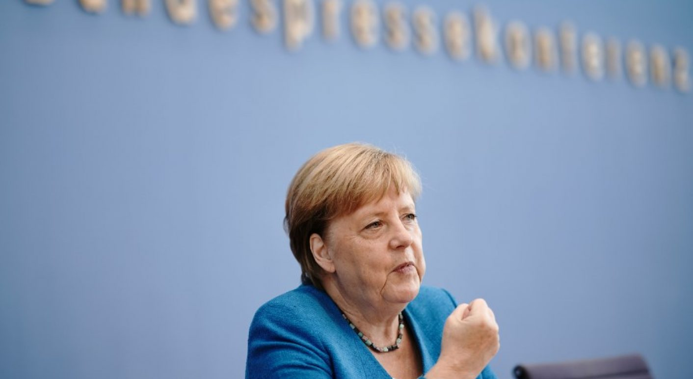 Merkel bei der Sommer-Pressekonferenz 2020