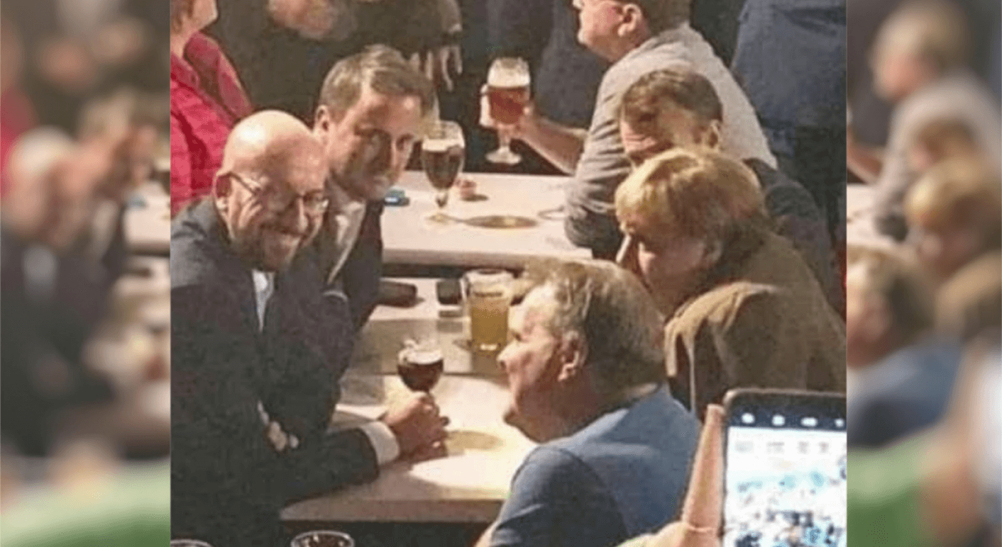 Angela Merkel vor der Pandemie