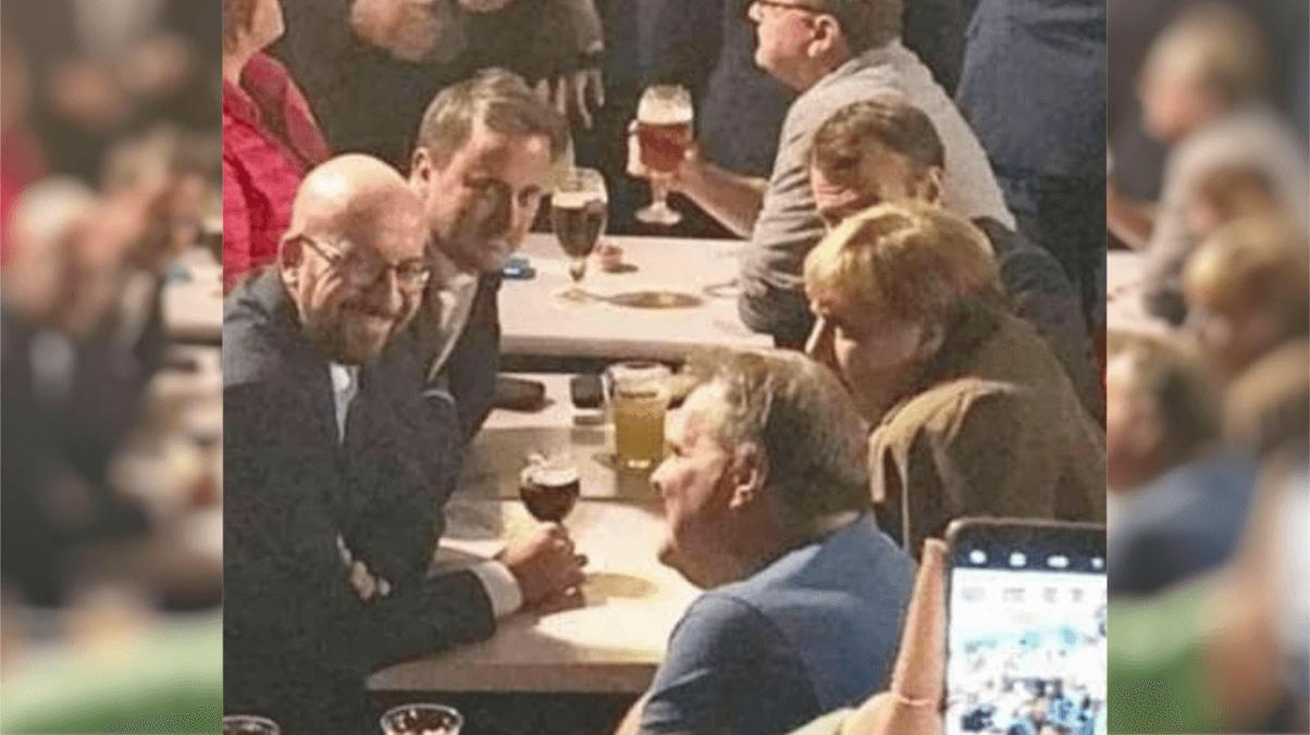 Dieses Foto von Angela Merkel zeigt keinen Verstoß gegen die Corona-Regeln – es stammt von 2018