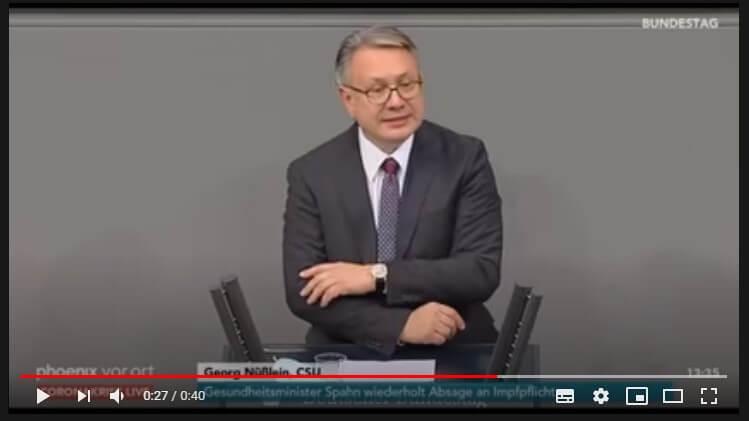 Nein, Georg Nüßlein hat nicht bestätigt, dass das dritte Bevölkerungsschutzgesetz zur Einführung einer Impfpflicht gedacht war