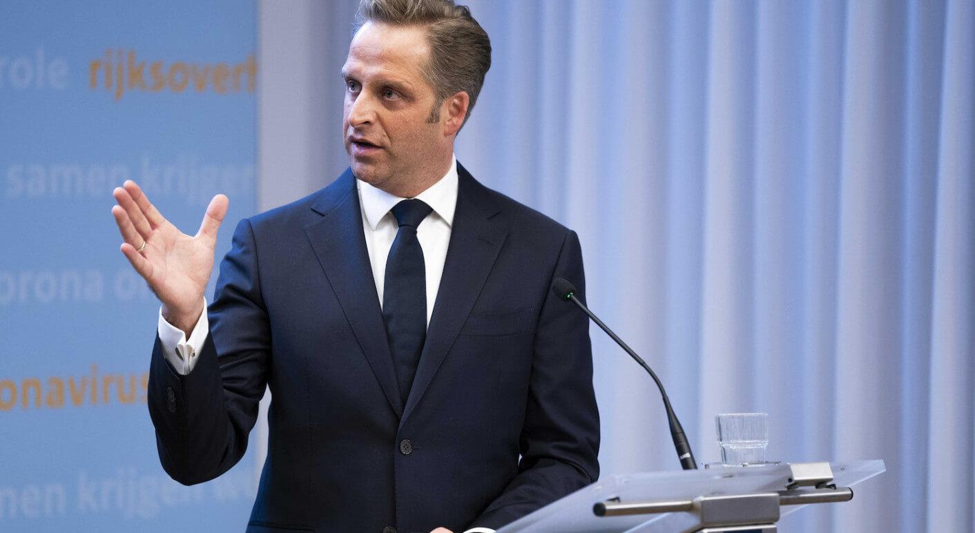 Corona Pressekonferenz mit De Jonge