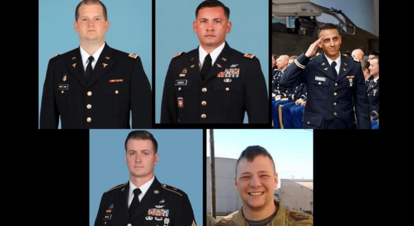 Fotos von fünf US-Soldaten