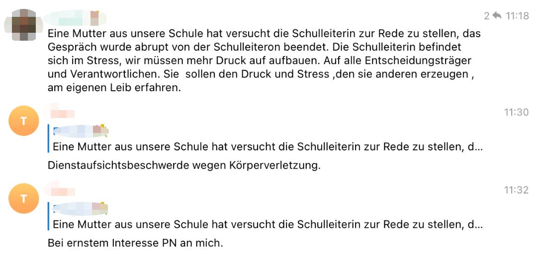 """Beitrag vom 23. Oktober 2020: In der Telegram-Gruppe """"Chat Hessen"""" schreibt ein Mitglied, man müsse mehr Druck aufbauen. (Quelle: Telegram / Screenshot: CORRECTIV.Faktencheck)"""