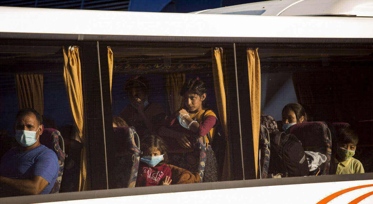Nach dem Brand im Flüchtlingslager Moria auf Lesbos
