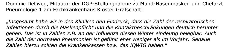 Ein weiteres Statement von Dominic Dellweg (Screenshot: CORRECTIV.Faktencheck)