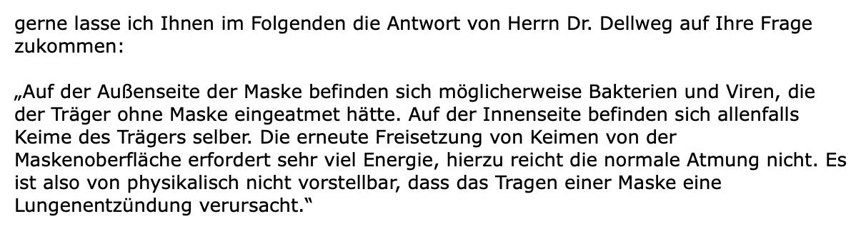 Ausschnitt aus einer E-Mail der Deutschen Gesellschaft für Pneumologie und Beatmungsmedizin (Screenshot: CORRECTIV.Faktencheck)