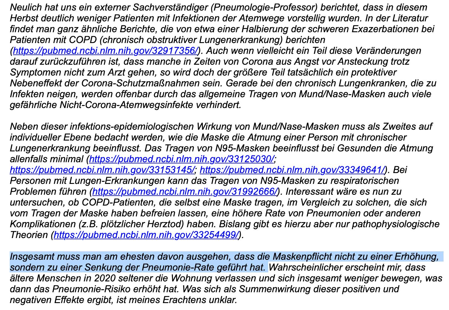 Ein Ausschnitt der E-Mail des Instituts für Qualität und Wirtschaftlichkeit im Gesundheitswesen. (Screenshot: CORRECTIV.Faktencheck)