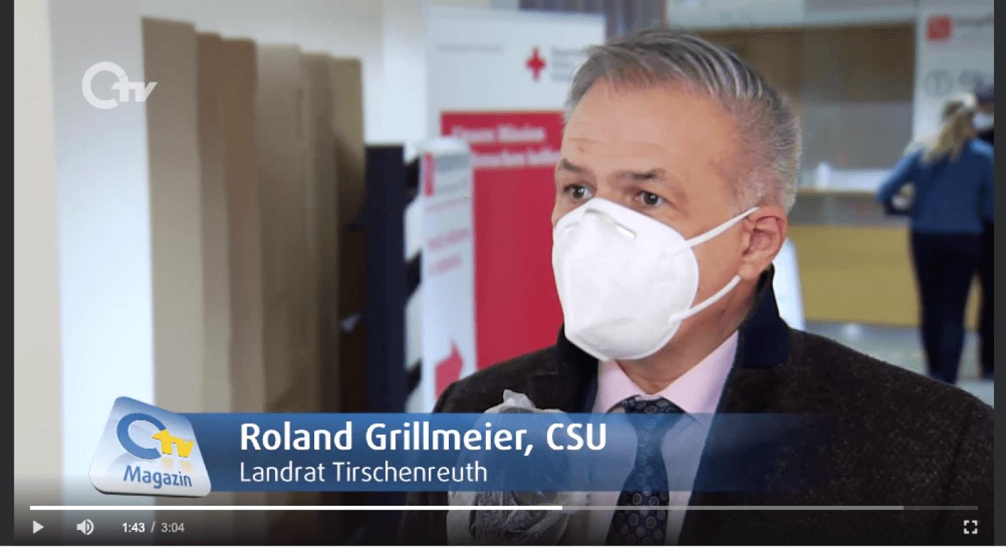 Roland Grillmeier im Original-Beitrag des Senders Oberpfalz TV am 18. Dezember 2020 (Quelle: OTV / Screenshot: CORRECTIV.Faktencheck)