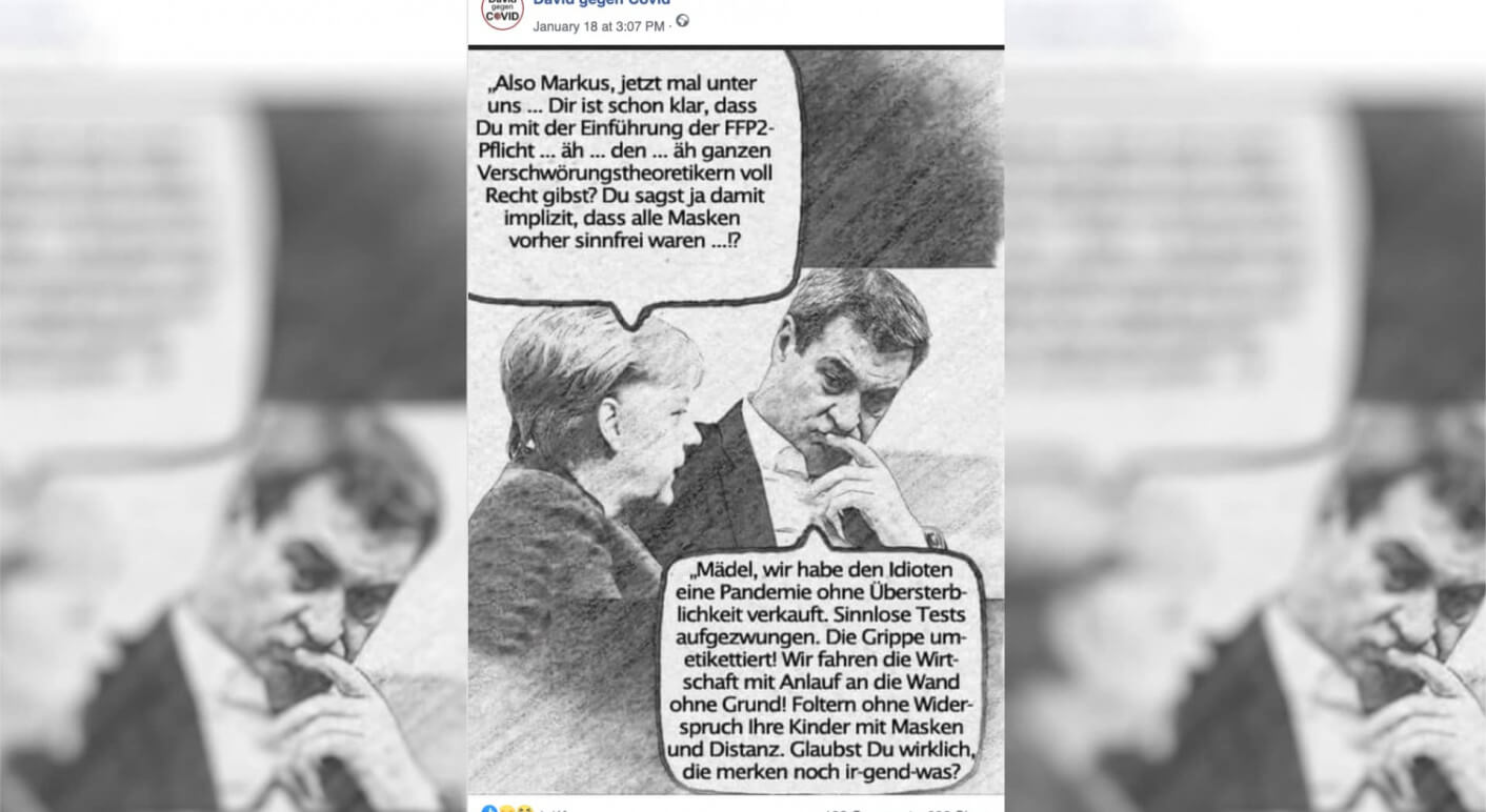 Meme von Markus Söder und Angela Merkel