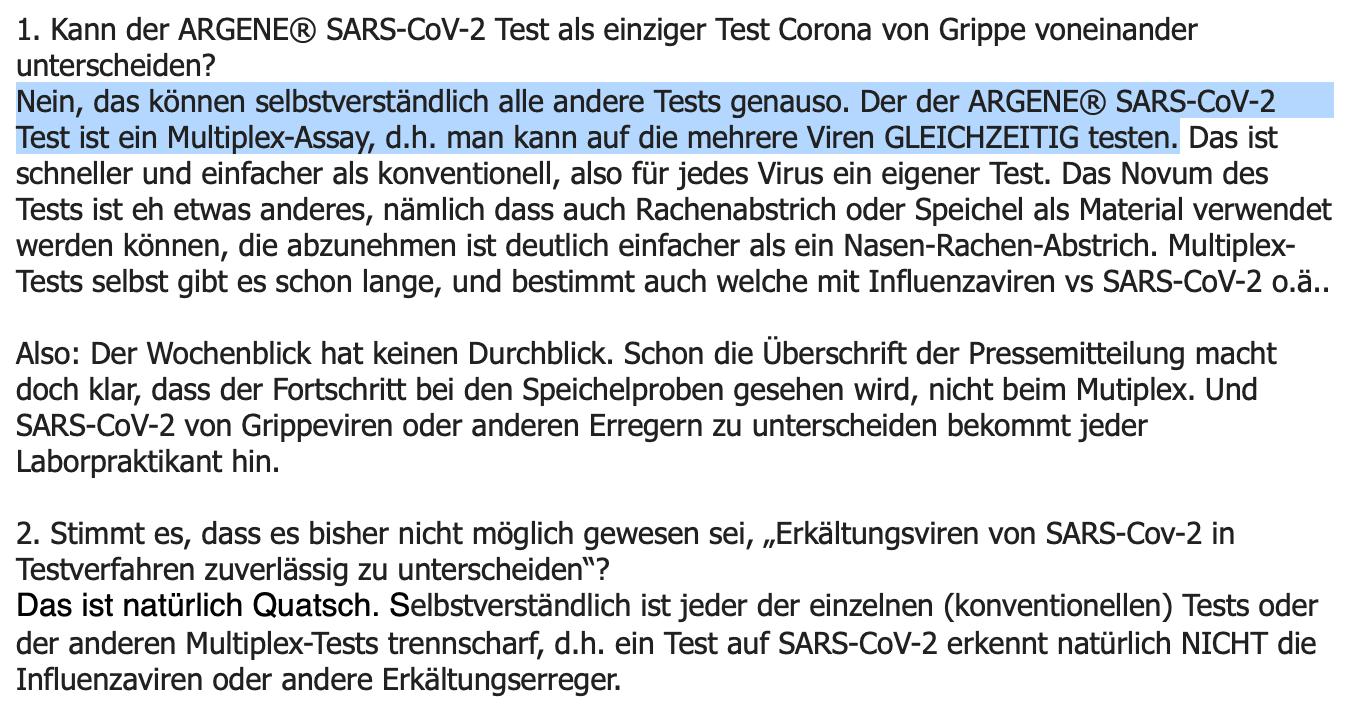 E-Mail der Virologin Monika Redlberger-Fritz.