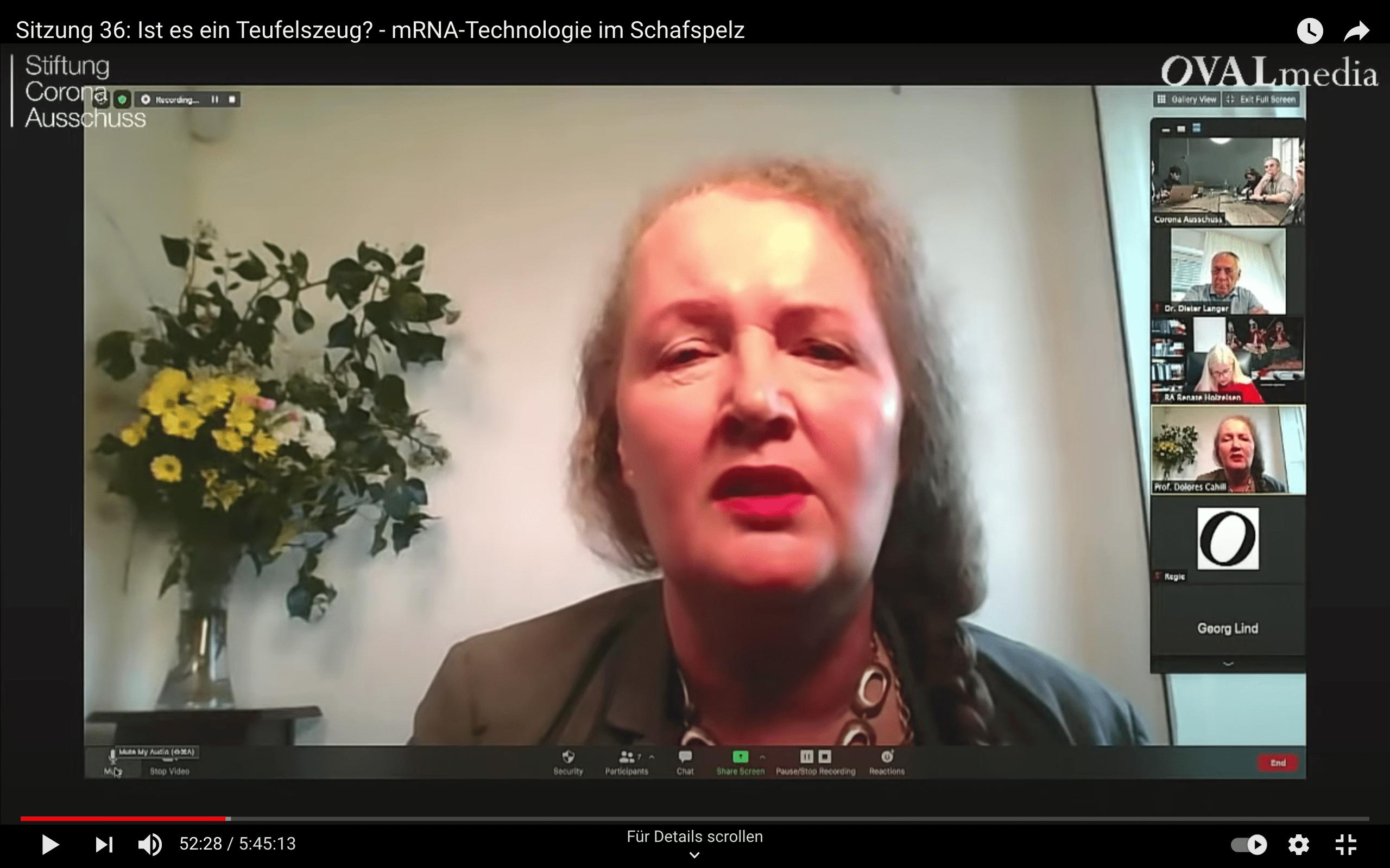 Dolores Cahill antwortet auf Fragen von Reiner Fuellmich.