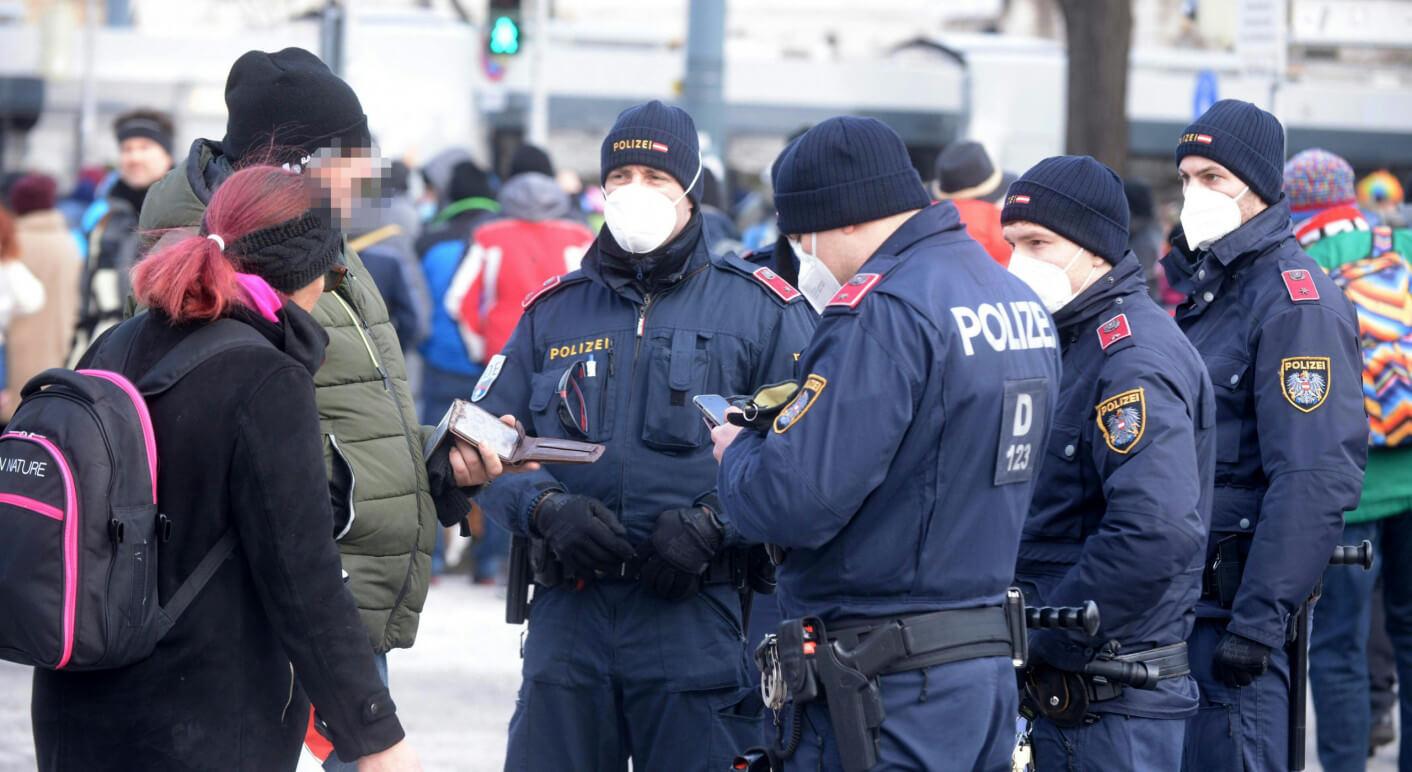 CORONA: DEMOS IN WIEN VON POLIZEI UNTERSAGT