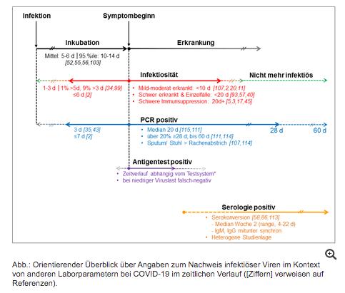 RKI-Grafik zu Corona-Tests und Infektiosität