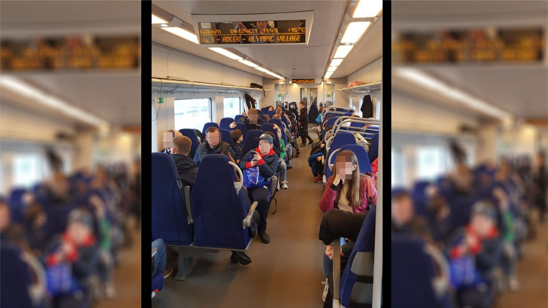 In Russland gilt eine Maskenpflicht in öffentlichen Verkehrsmitteln
