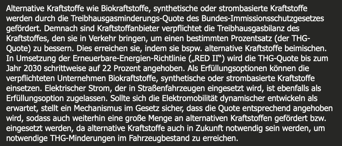 Auszug aus der E-Mail von Christopher Stolzenberg vom Umweltministerium