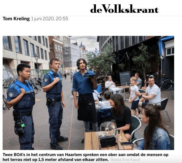 Overname van de politie in Harlem, Nederland, in 2020