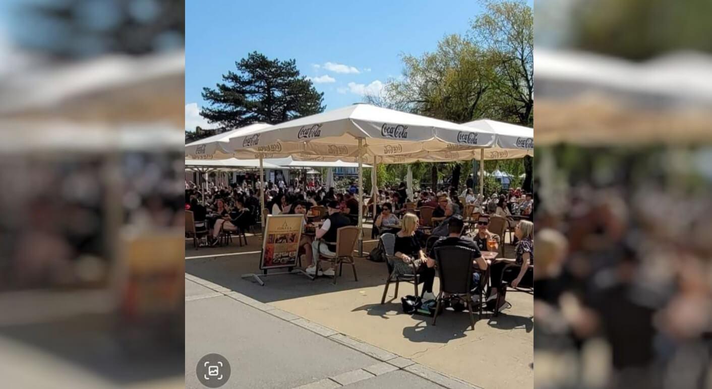 Restaurant-Terrasse in der Schweiz