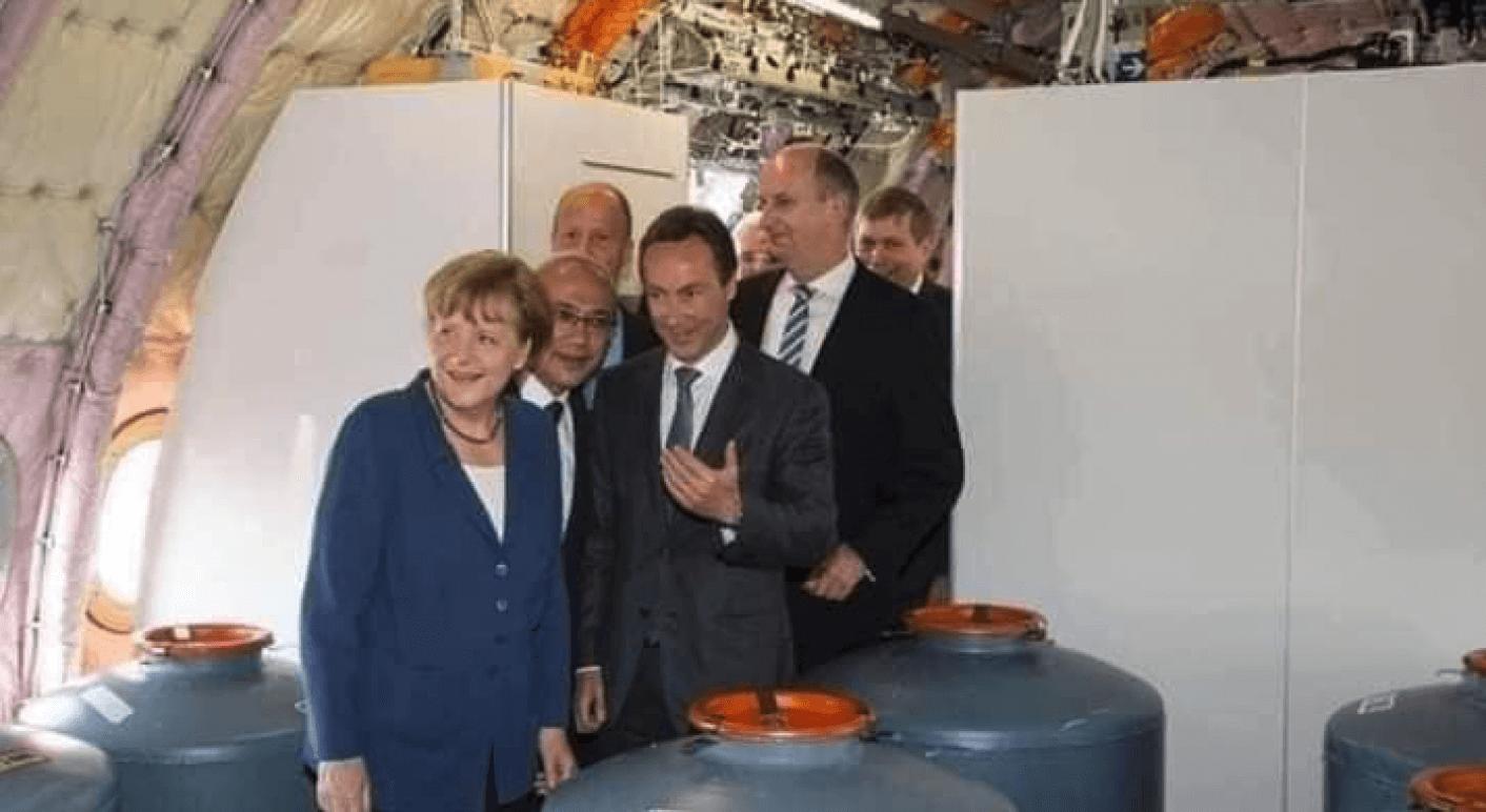 Angela Merkel auf der ILA