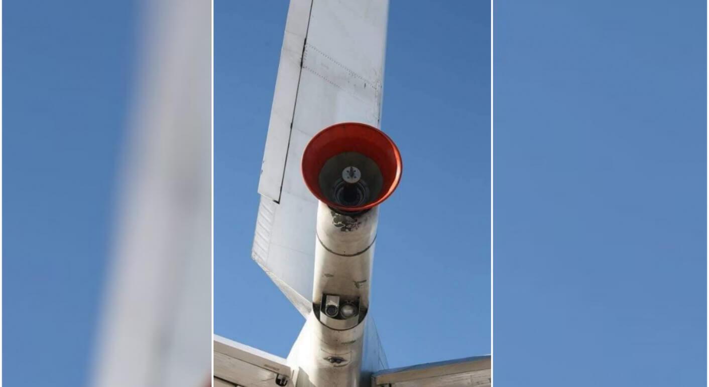 Antenne am Flugzeugheck einer Boeing