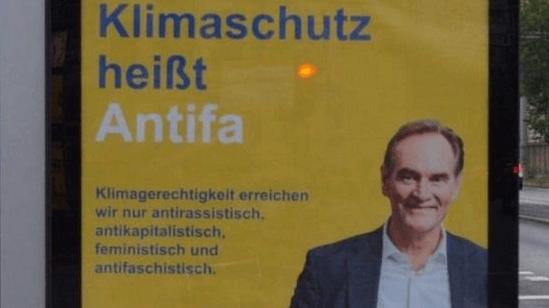 """Keine Aktion der Stadt Leipzig: """"Klimaschutz ist Antifa""""-Plakat war gefälscht"""