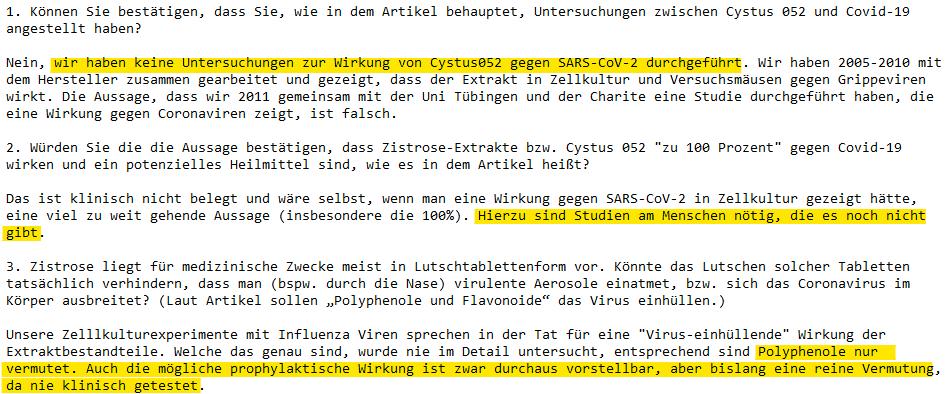 Auszug aus der E-Mail von Stephan Ludwig
