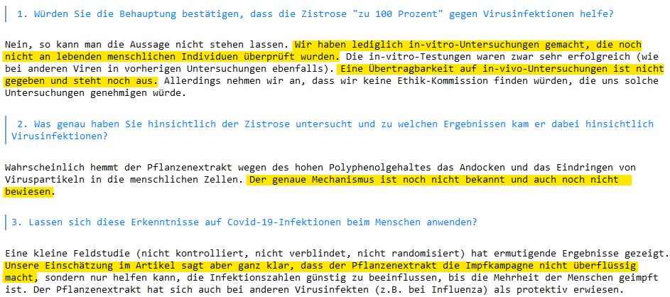 Auszug aus der E-Mail von Jens-Martin Träder