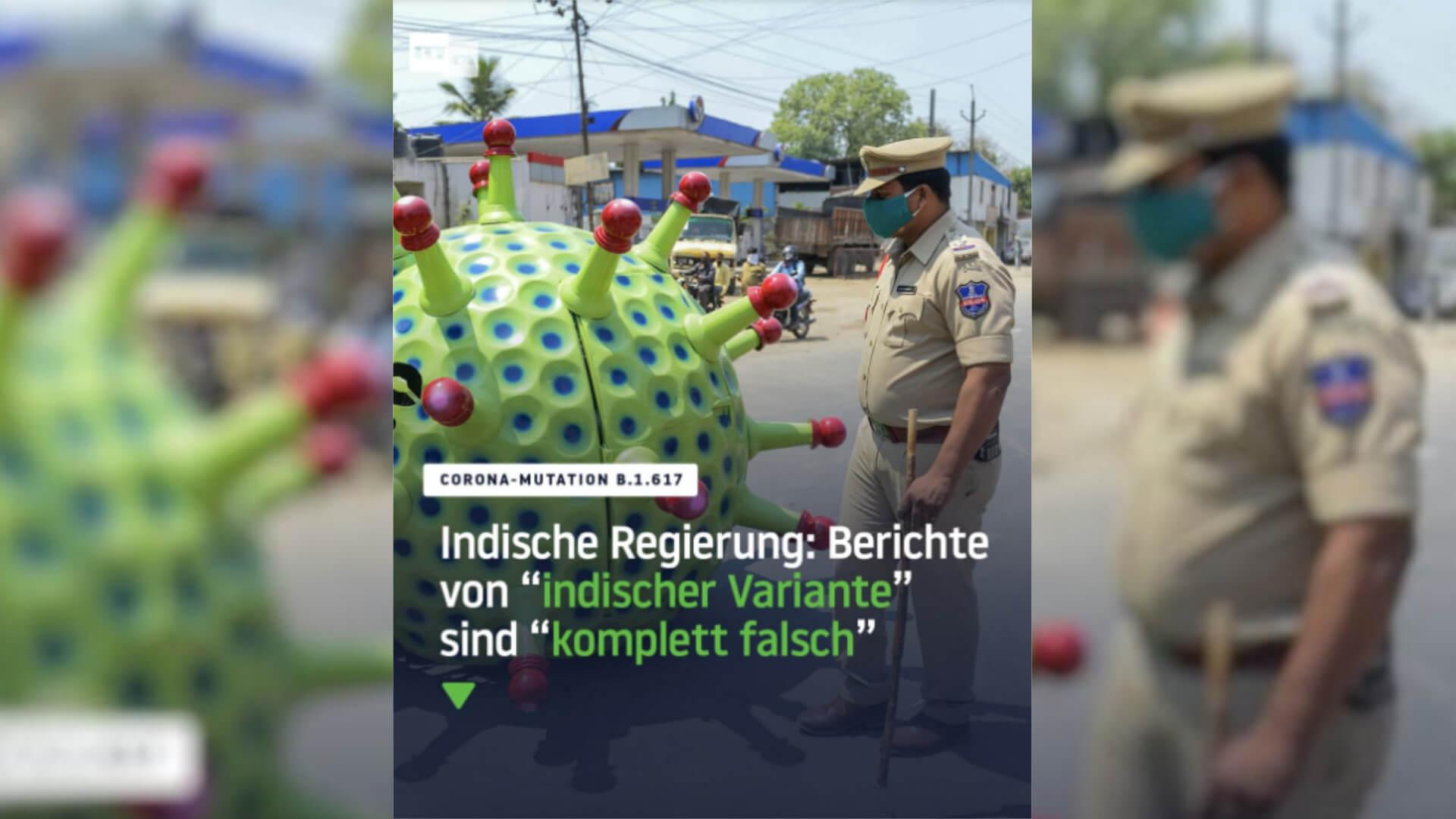 """""""RT Deutsch"""" führt mit Beitrag zur Corona-Mutante B.1.617 in die Irre"""