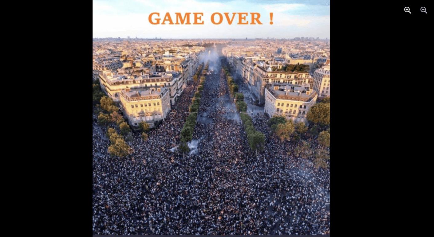 Foto aus Paris mit Aufschrift
