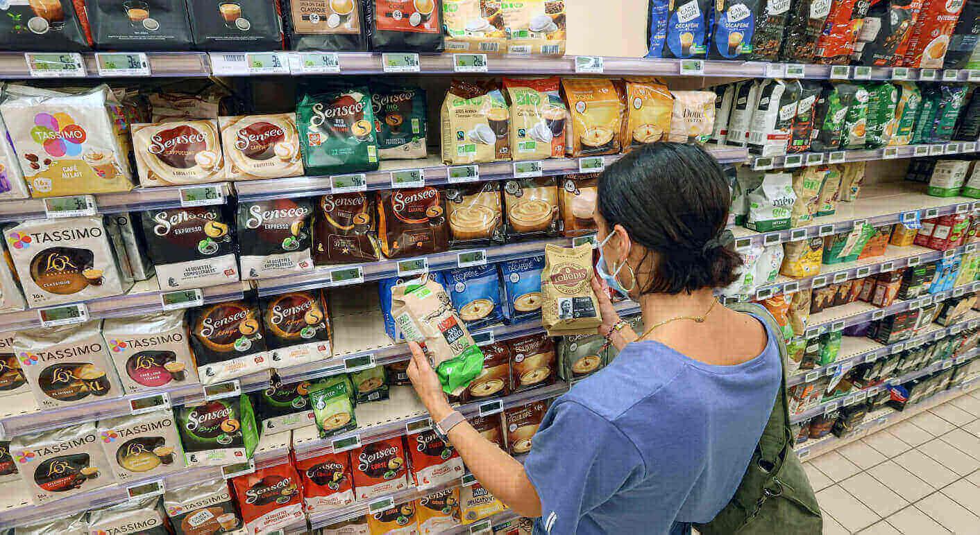Kein Pass Sanitaire in Frankreich im Supermarkt