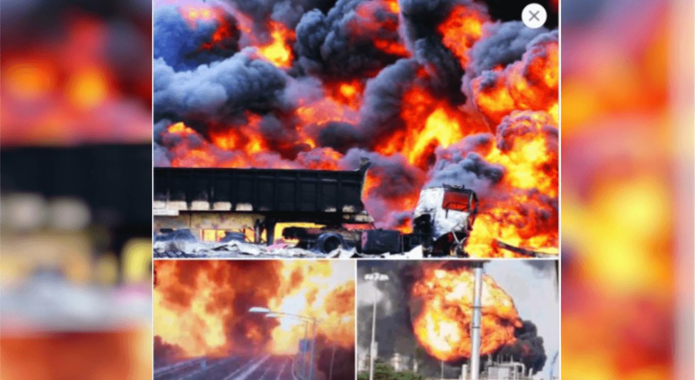 Falsche Fotos von Explosion im Chempark Leverkusen