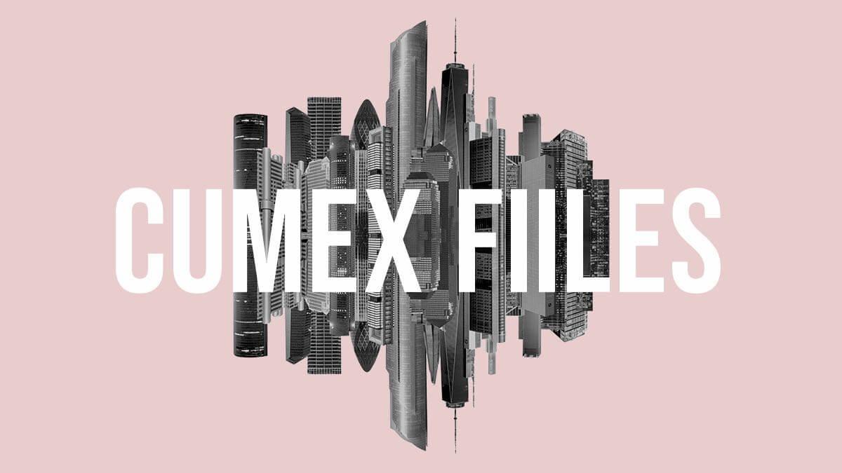 Collage: Skyline mit Wolkenkratzern, die in von Cum-Ex-Betrug betroffenen Ländern stehen