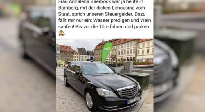 Annalena Baerbock in Bamberg – ein Auto vom BKA